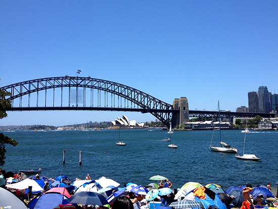 Sydney Harbour New Year's Day Eve 2012