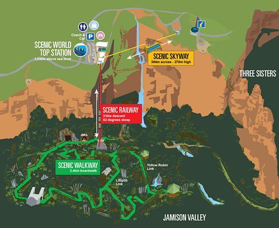 Scenic World Map