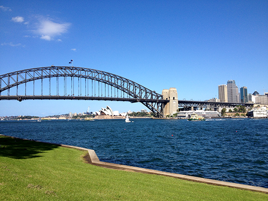 Sydney Harbour Bridge from McMahons Point