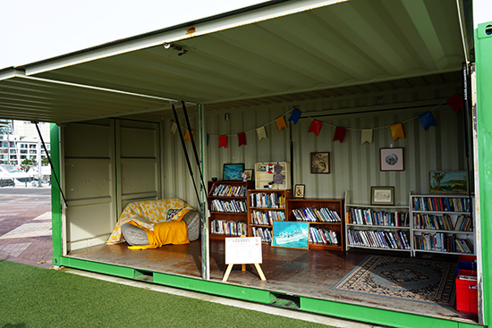 Auckland Viaduct Community Library Container