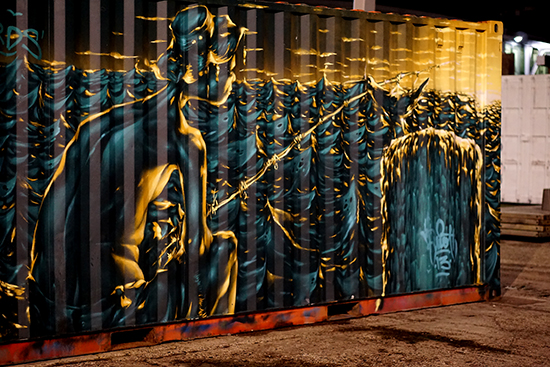 Auckland Shipping Container Art