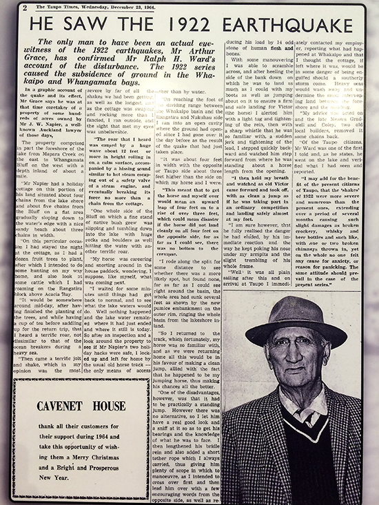Lake Taupo Museum Newspaper