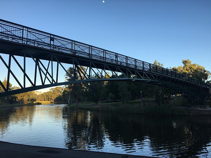 Walking along the Torrens River, Adelaide