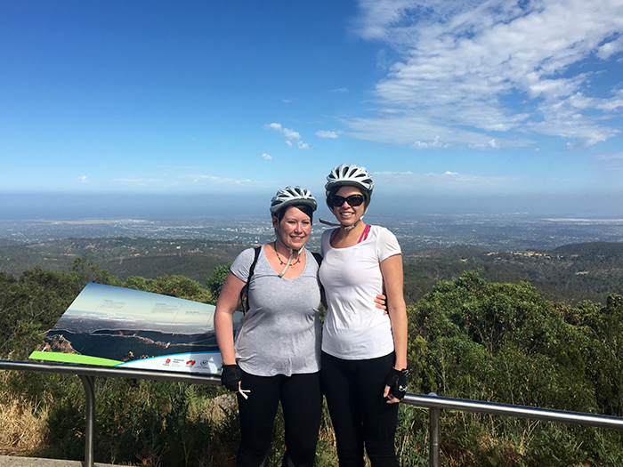 MTB tour down Mt Lofty