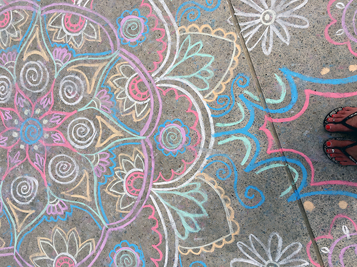 Chalk Mehendi at Henley Beach